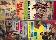 Lot of 4 vintage western paperbacks-collectible1940s & 1950s