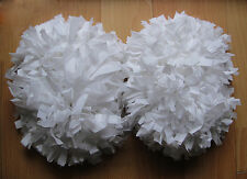 Child Adult Football Basketball Halloween Cheerleader 2 PomPoms White(1pair)