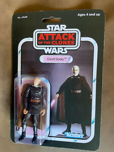 Star Wars - Attack Of The Clones - COUNT DOOKU Action Figure - On Custom Card