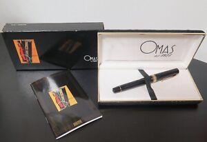 .Vintage Omas Extra Black Milord Paragon Fountain Pen Box & Docs