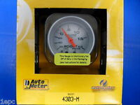 Auto Meter 4303-M Ultra Lite Metric Boost Vacuum 60 cm/HG 2.0 Bar Mechanical