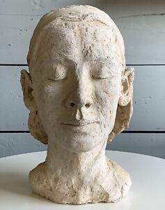 Mid Century Original Women Bust Sculpture