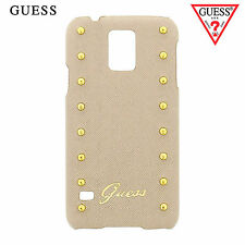 GUESS Studded Hard Case for Samsung Galaxy S5 i9600 Beige (GUHCS5SAC)
