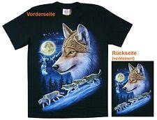 T-Shirt Wölfe Wolf Rudel,Gr.S,M,L,XL Western Biker Triker Indianer,Canada Lobo