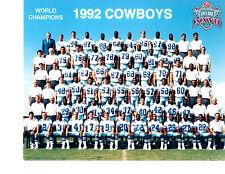 1992 DALLAS COWBOYS 8X10 TEAM PHOTO WORLD CHAMPIONS  FOOTBALL TEXAS NFL