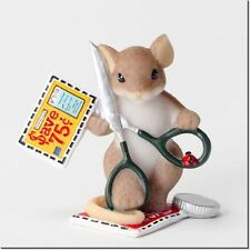 Charming Tails Mouse Figure Cutting Costs 4027098 Limited Edition Retired