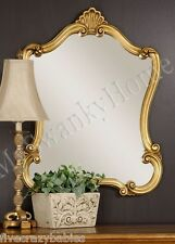 "Large 35"" ANTIQUE GOLD Shaped Vanity Mirror NEIMAN MARCUS Wall Victorian"