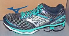 WOMENS MIZUNO WAVE CREATION 17 in colors GREY / SILVER / GREEN-BLUE SIZE 6