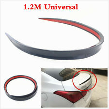 Black Flexible Durable PU Car Rear Roof Trunk Spoiler Wing Lip Trim Sticker 1.2m