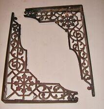 Antique Cast Iron Decorative Shelf Brackets - Pair #2