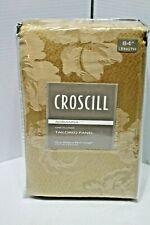 "Croscill Adrianna Tailored Panel Gold 54""X 84"" Lined One panel NIP"