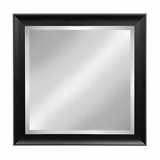 Scoop Black Square Framed Beveled Wall Mirror by DesignOvation