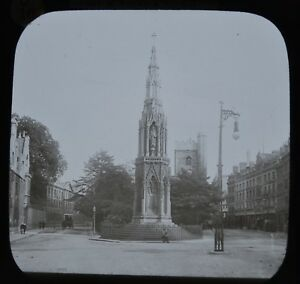 Glass Magic Lantern Slide Photo Oxford Martyrs Memorial From St Giles H. Taunt