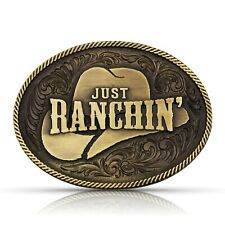 Attitude by Montana Silversmiths Dale Brisby Just Ranchin' Belt Buckle A805DBC