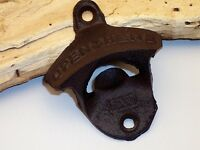 Set of 4 Cast Iron Wall Mounted Bottle Opener Great for the Bar