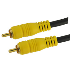 2m Compuesto RCA Amarillo Phono Cable Vídeo AV digital de audio Lead RG59 75 ohmios