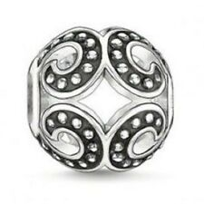 Thomas Sabo Oxidised Wave Sterling Silver Karma Bead TK0061 RRP $50
