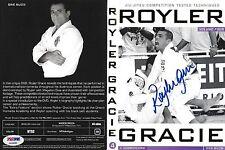 Royler Gracie Signed Jiu-Jitsu DVD Vol. 4 PSA/DNA COA MMA Autograph Pride FC 2 8