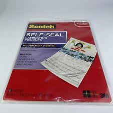 Self Seal Laminating Pouches Scotch 10 Pouches 9x115 No Machine Needed E5