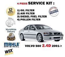 pour Volvo S60 2.4D d 2001> Huile Air CARBURANT Filtre à Pollen KIT DE SERVICE