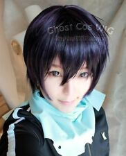 Noragami/Stray God Yato Short Black Purple Cosplay Party Hair unisex's Wig +gift