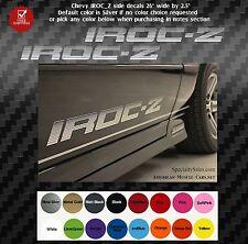 IROC-Z Z28 TWO Door Decals STICKERS Camaro SET vinyl