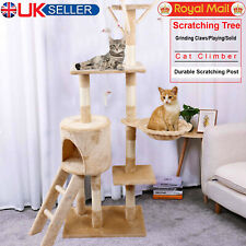 Cat Tree Kitty Activity Play Center Scratching Scratcher House Furniture 140CM