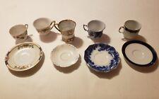 Vintage Tea Cup Saucer Lot Nippon Bareuther Germany Warren Japan Royal England