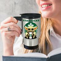 STARBUCKS Yoda Funny Coffee Travel Mug Baby Yoda STARBUCKS Coffee Mug Gift