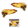 Flaming Skull Car Stickers Scary Funny Large Twin Vinyl Decal Pack - ST016_3