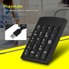 Mini USB Numeric Keypad Number Keyboard Num Pad 19Keys For Laptop Notebook PC