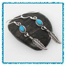 Indianerschmuck Ohrhänger Ohrringe Echt Silber Indianer Schmuck mit Türkis neu