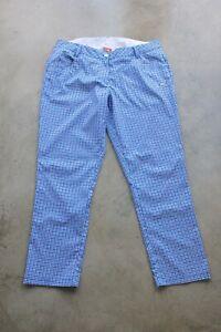 EUC Checked Pattern PUMA womens golf pants size 14