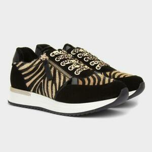 Heavenly Feet San Remo Trainers Black/Gold