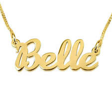 24K Gold Plated Handwriting Name Necklace  - Customize it with any name/word