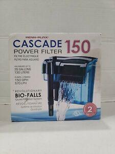 Cascade 150 Hang-on Power Aquarium Filter open box but new
