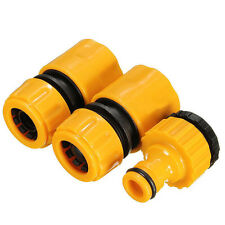 "3x garden 1/2 ""3/4"" quick coupling hose connector hose connection adapter set"