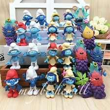 The Smurfs the Lost Village Papa Smurfette Clumsy 24 pcs Action Figure Toy Decor
