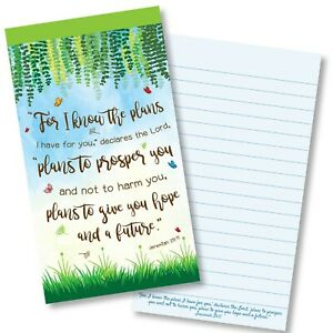 For I Know The Plans Christian Gift Jotter Notepad Ruled with Bible Verse