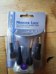 Monster Lock Flex Tip Modular Speaker Cable Termination 4pcs z2 bi-wire biwire Z