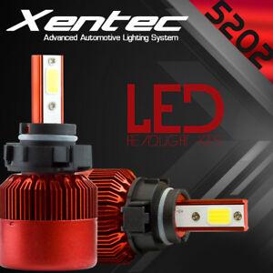 388W 38800LM 2018 5202 9009 PSX24W 6500K Xenon White LED Fog Lights Bulbs Kit