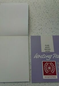 White Plain Writing Pad Silvine 40 Sheets Duke 175mmx135mm - Ideal for Letters