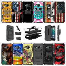 For HTC U11 Life Cover Protective Dual Layer Case Clip with Kickstand