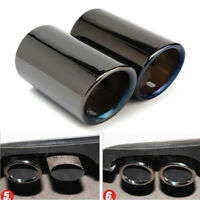 Titanium Black Stainless Steel Tail Exhaust Tip Pipes For BMW E90 E92 3 Series