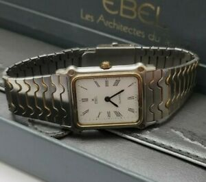 Ebel Classic Wave Ladies Watch with 18ct Gold Bezel Boxed