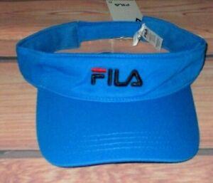 MENS FILA AZURE BLUE VISOR HAT ADJUSTABLE CAP