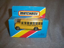 310B Vintage Matchbox 1981 MB 47 Bus School Bus School District 2 USA 1:76