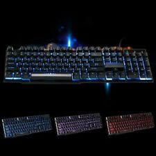 USB Wired Russian Gaming Keyboard With 3 Colors Backlit Keycaps Mechanical Feel
