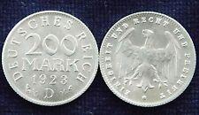200 Mark 1923 D Aluminium Inflation Deutsches Reich Weimar Republik vz+ - Stgl.