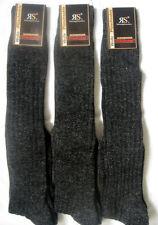 3 Pairs Men Knee Socks Comfort band Norwegian with wool black 39 - 42